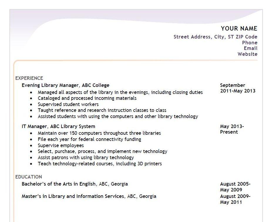 A fake resume.